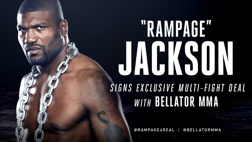 Rampage Jackson Signs Exclusive Multi Fight Deal With Bellator Mma